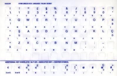Tastaturaufkleber Italienisch