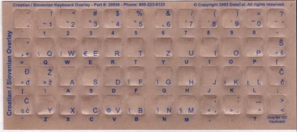 Tastaturaufkleber Kroatisch/Slowenisch