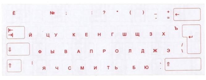Tastaturaufkleber Kyrillisch/Russisch
