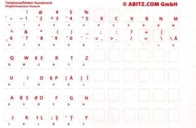 Tastaturaufkleber Rumänisch