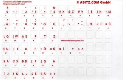 Tastaturaufkleber Ungarisch