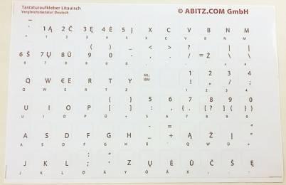 Tastaturaufkleber Litauisch
