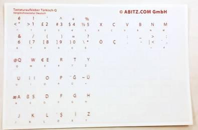 Tastaturaufkleber Türkisch